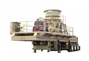 Telsmith Cone Crusher on a Dakota Fabricating Inc custom fabricated Chassis