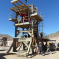 FMC Feeder and Telsmith Cone Crusher supported by skid structure at Granmin Mine in Mexico